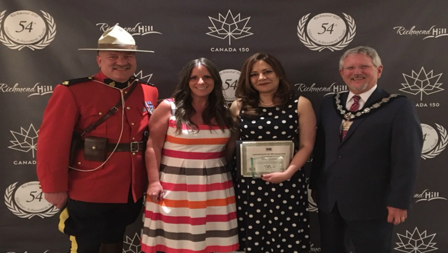 Congratulations Rahila Chughtai- City of Richmond Hill Volunteer Achievement Award Recipient
