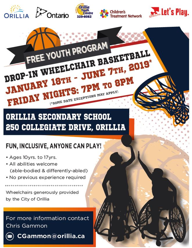Youth Drop In Wheelchair Basketball- Orillia