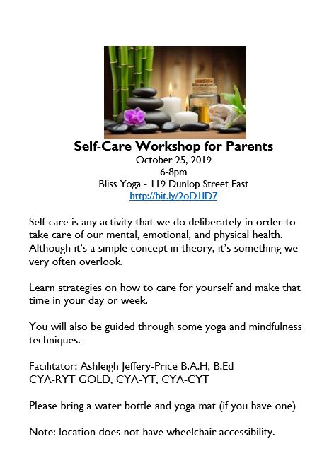 Self-Care Yoga and Mindfulness Workshop- Barrie