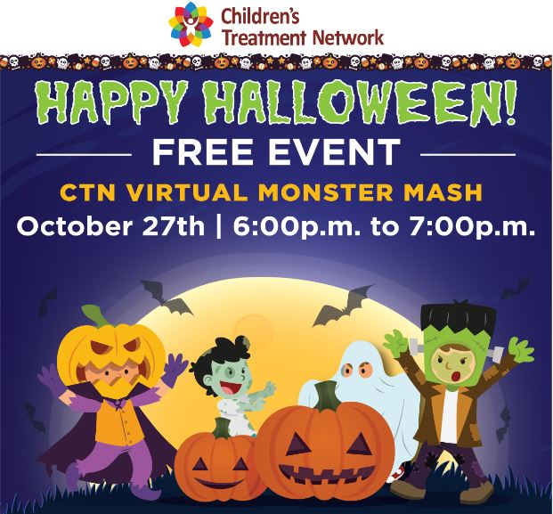 Children S Treatment Network Ctn Virtual Halloween Monster Mash Online