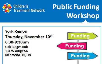 Funding Workshop: ACSD and SSAH- Richmond Hill