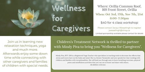 Wellness for Caregivers - Orillia