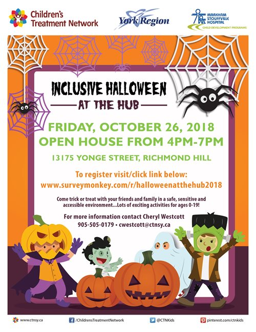 CTN Inclusive Halloween Event at the Hub- Richmond Hill