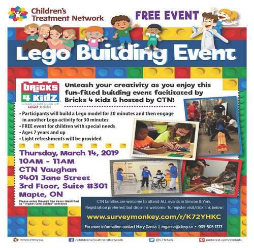 Free Lego Building - Vaughan