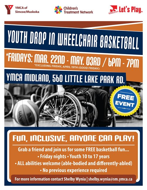 Friday Night Youth Drop In Wheelchair Basketball - Midland