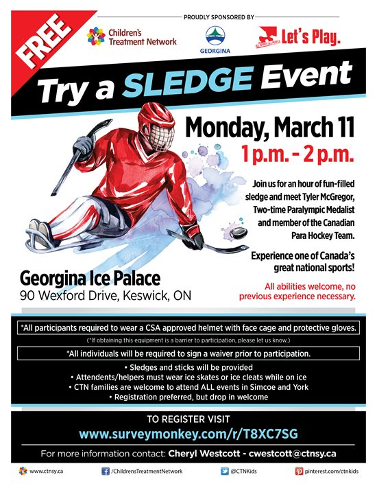 CTN March Break Free Try a Sledge Event - Georgina